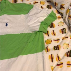 Polo by Ralph Lauren Shirts - Green and white striped polo Ralph Lauren t-shirt